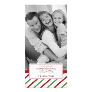 Tarjeta de Navidad de la hierbabuena Tarjeta Con Foto Personalizada