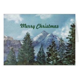 Tarjeta de Navidad de la montaña
