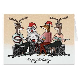 Tarjeta de Navidad de la música del día de fiesta