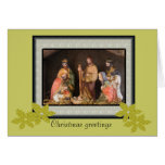 Tarjeta de Navidad de la natividad