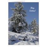 Tarjeta de Navidad de la nieve de Colorado