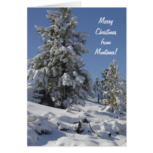 Tarjeta de Navidad de la nieve de Montana