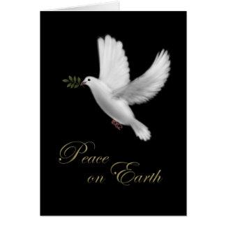 Tarjeta de Navidad de la paloma de la paz