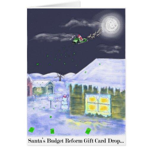 ¡Tarjeta de Navidad de la reforma del presupuesto