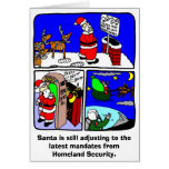 Tarjeta de Navidad de la seguridad de Santa