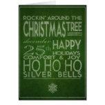 tarjeta de Navidad de la tipografía