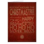 tarjeta de Navidad de la tipografía en rojo
