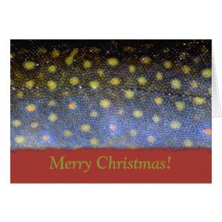 Tarjeta de Navidad de la trucha de arroyo