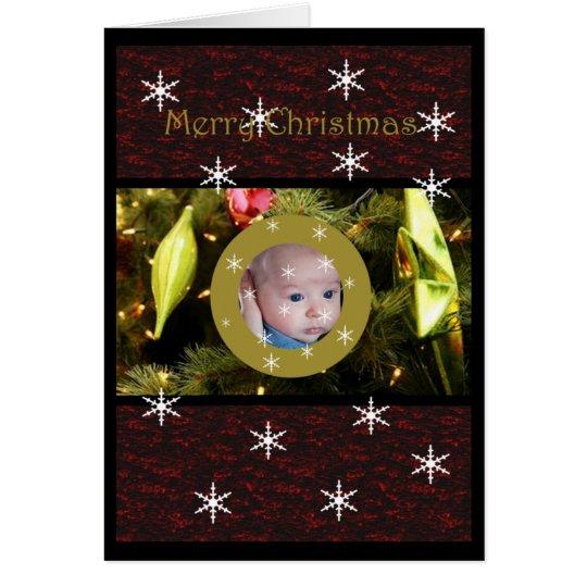 Tarjeta de Navidad de la ventana de la chuchería