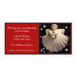 Tarjeta de Navidad de las bendiciones del ángel de Tarjeta Fotográfica