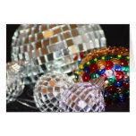 Tarjeta de Navidad de las bolas del brillo