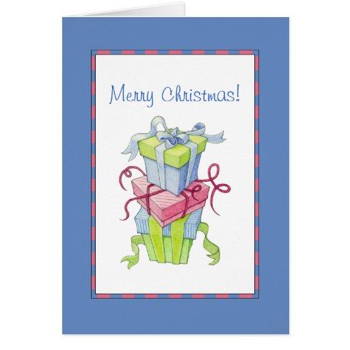 Tarjeta de Navidad de las cajas de regalo