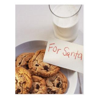 Tarjeta de Navidad de las galletas de Santa Tarjeta Postal