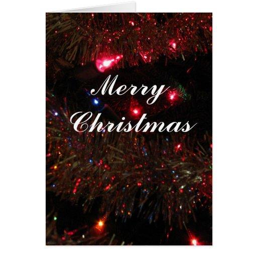 Tarjeta de Navidad de las luces del bonito