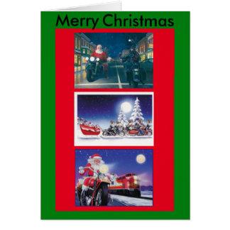 Tarjeta de Navidad de las motocicletas
