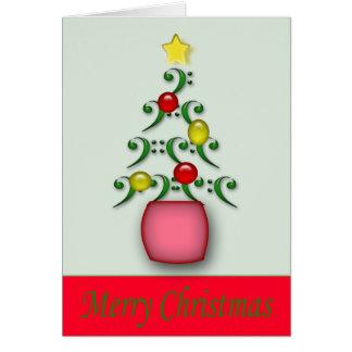 Tarjeta de Navidad de las notas musicales - modifi