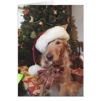 Tarjeta de Navidad de las patas de Santa