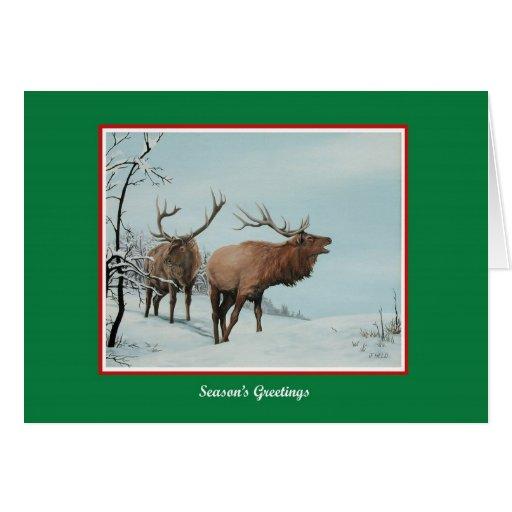 Tarjeta de Navidad de los alces