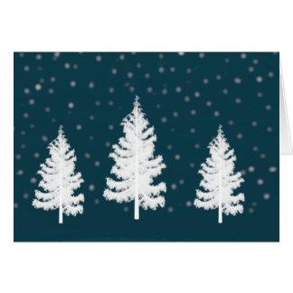 Tarjeta de Navidad de los árboles