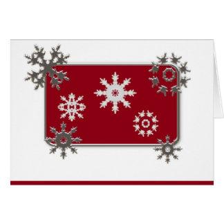 Tarjeta de Navidad de los copos de nieve
