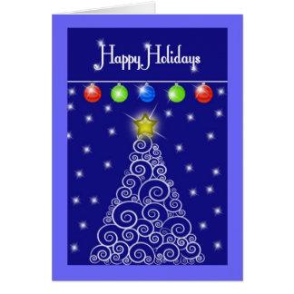 Tarjeta de Navidad de los días de fiesta de Hapy