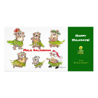 Tarjeta de Navidad de los hámsteres de Mele Kaliki Tarjeta Fotografica Personalizada