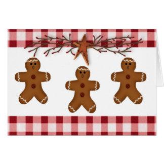 Tarjeta de Navidad de los hombres de pan de