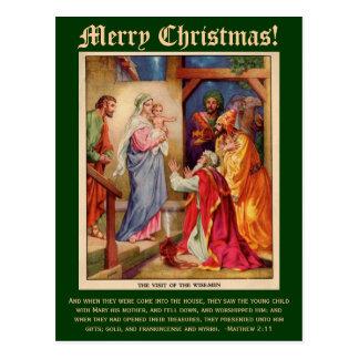 Tarjeta de Navidad de los hombres sabios, con Tarjetas Postales