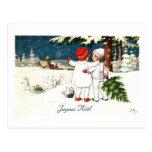 Tarjeta de Navidad de los niños de Joyeux Noel Tarjetas Postales