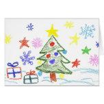 Tarjeta de Navidad de los niños para que ellos den