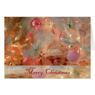Tarjeta de Navidad de los ornamentos