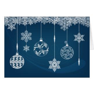 Tarjeta de Navidad de los ornamentos y de los