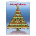 Tarjeta de Navidad de los pescados del acuario del