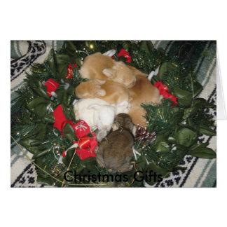 Tarjeta de Navidad de los regalos del navidad