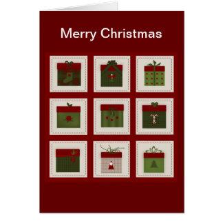Tarjeta de Navidad de los regalos y de Rudolf