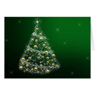 Tarjeta de Navidad de los saludos de las