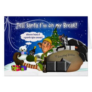 Tarjeta de Navidad de los soladores con el duende