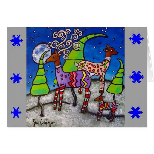 Tarjeta de Navidad de los suéteres de los ciervos