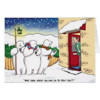 Tarjeta de Navidad de los villancicos del texto de