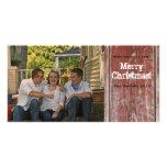 Tarjeta de Navidad de madera de la foto del graner Tarjeta Con Foto Personalizada