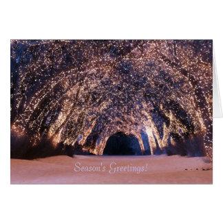 """""""Tarjeta de Navidad de madera del sonámbulo (noche Tarjeta De Felicitación"""