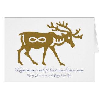Tarjeta de Navidad de Metis con el reno