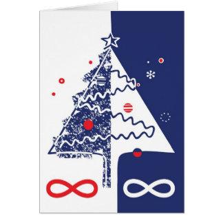 Tarjeta de Navidad de Metis - Michif, francés, Eng