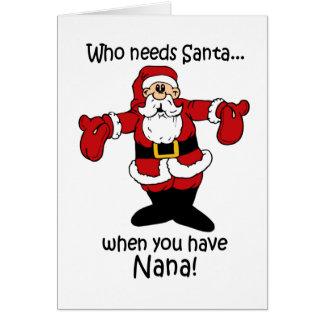 Tarjeta de Navidad de Nana