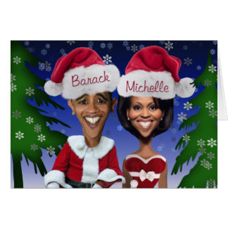 Tarjeta de Navidad de Obama