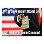 "Tarjeta de Navidad de ""Obama Claus"" Obama"