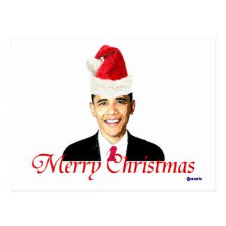 Tarjeta de Navidad de Obama Postal