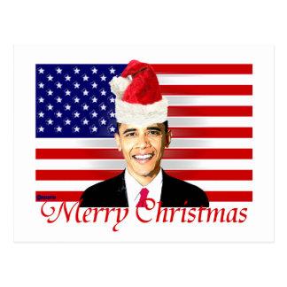 Tarjeta de Navidad de Obama Postales