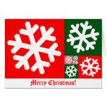 Tarjeta de Navidad de oro del copo de nieve del co