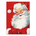 Tarjeta de Navidad de Papá Noel de los niños